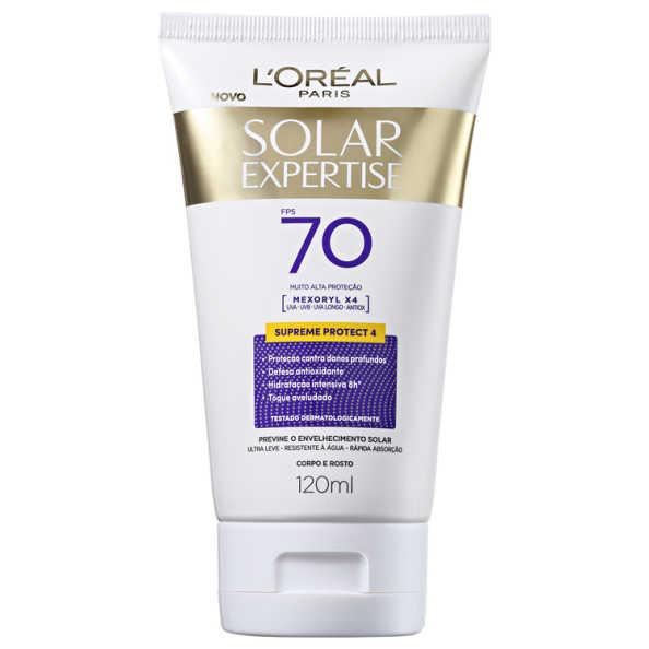 L'Oréal Paris Solar Expertise Supreme Protect 4 FPS 70 - Protetor Solar 120ml
