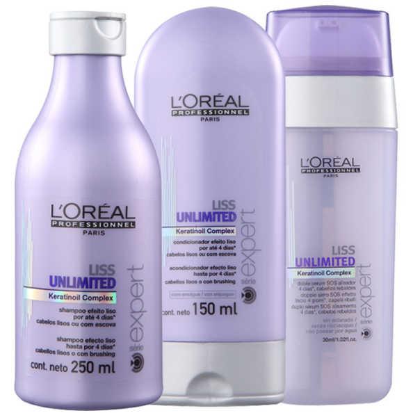 L'Oréal Professionnel Liss Unlimited Sos Kit (3 Produtos)