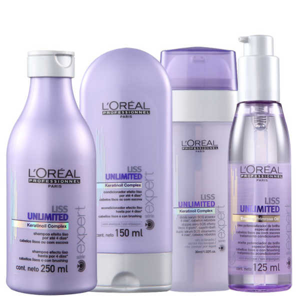 L'Oréal Professionnel Liss Unlimited Sos Shine Kit (4 Produtos)