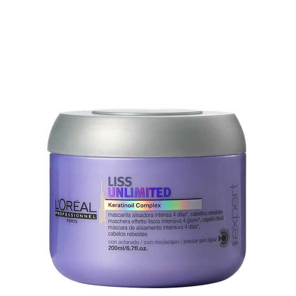 L'Oréal Professionnel Liss Unlimited Tratamento Intensivo - Máscara 200g