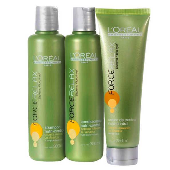 L'Oréal Professionnel Nutri-Control Force Relax Finish Kit (3 Produtos)