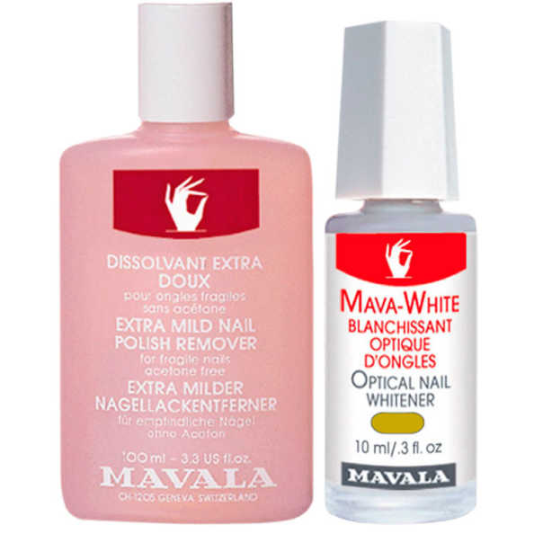 Mavala Mava White e Nail Polish Remover Pink (2 Produtos)