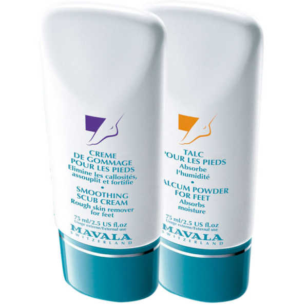 Mavala Somoothing Scrub Cream e Talcum Powder for Feet (2 Produtos)