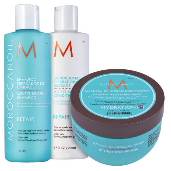 Moroccanoil Repair Hydrating Mask Kit (3 Produtos)