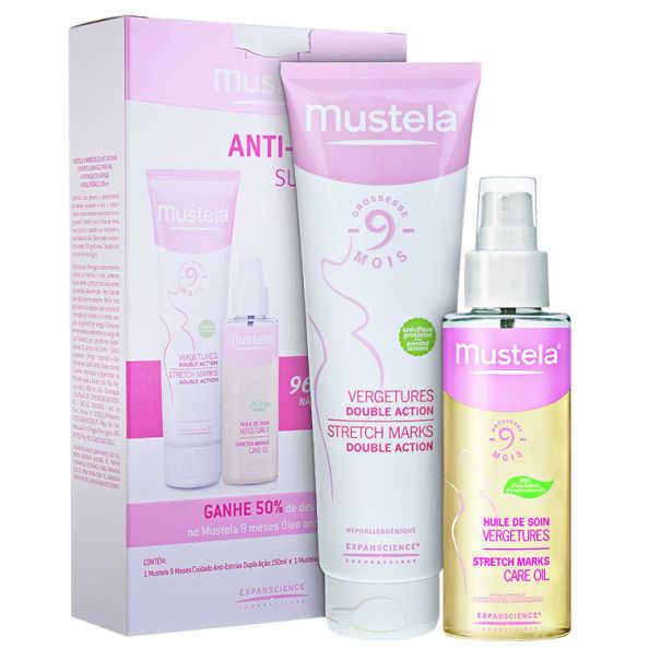 Mustela 9 Mois Vergetures Huile et Crème Kit (2 Produtos)