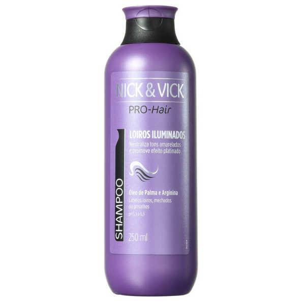Nick & Vick PRO-Hair Revitalização Intensa Cabelo Loiro - Shampoo 250ml