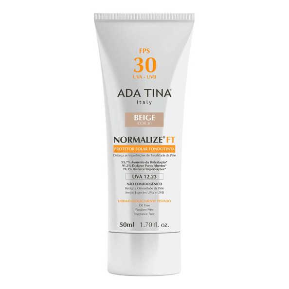 Ada Tina Normalize Ft Fondotinta Beige Cor 30 FPS 30 - Protetor Solar com Cor 50ml