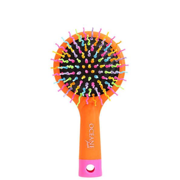 Océane Femme Rainbow Brush Laranja - Escova Almofadada Pequena