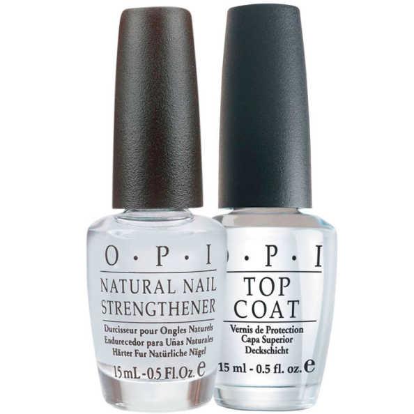 OPI Natural Strengthener + Ds Top Coat Kit (2 Produtos)
