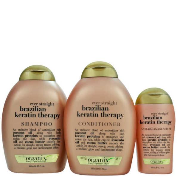 Organix Brazilian Keratin Therapy Kit (3 Produtos)