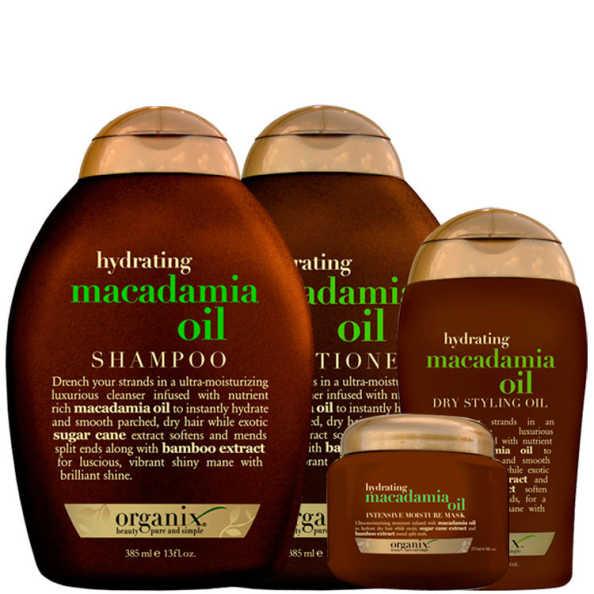 Organix Macadamia Oil Style Kit (4 Produtos)