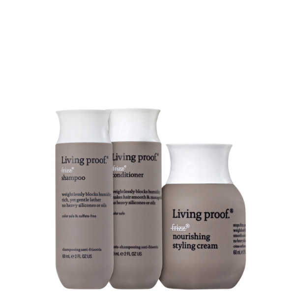 Living Proof No Frizz Nourishing Mini Trio Kit (3 Produtos)