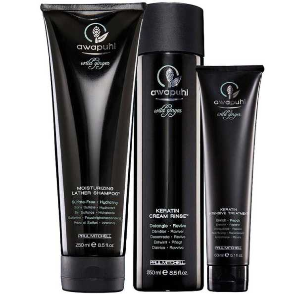 Paul Mitchell Awapuhi Wild Ginger Keratin Kit (3 Produtos)