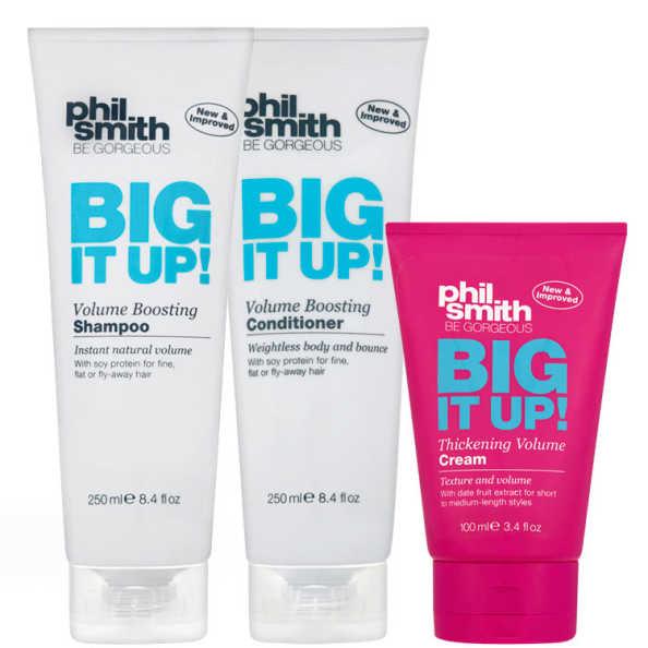 Phil Smith Big It Up Thickening Volume Boosting Kit (3 Produtos)
