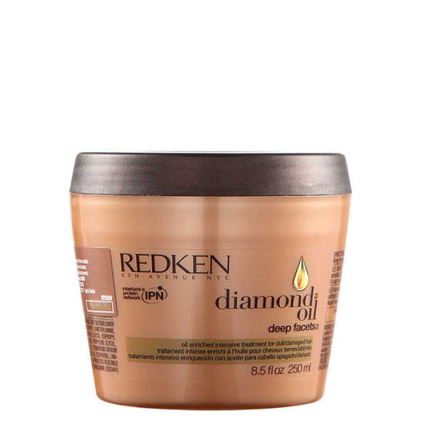Redken Diamond Oil Deep Facets Mask - Máscara de Tratamento 250ml
