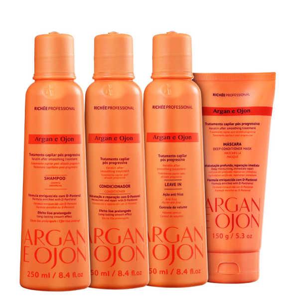 Richée Professional Argan e Ojon Treatment Kit (4 Produtos)