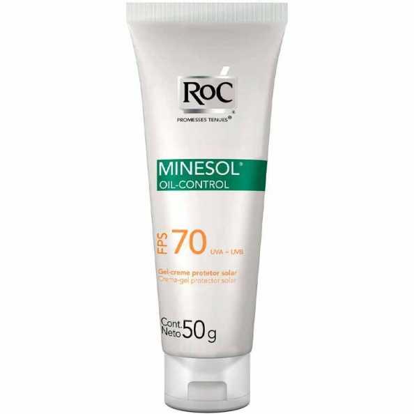 RoC Minesol Oil Control FPS 70 - Protetor Solar Facial 50g