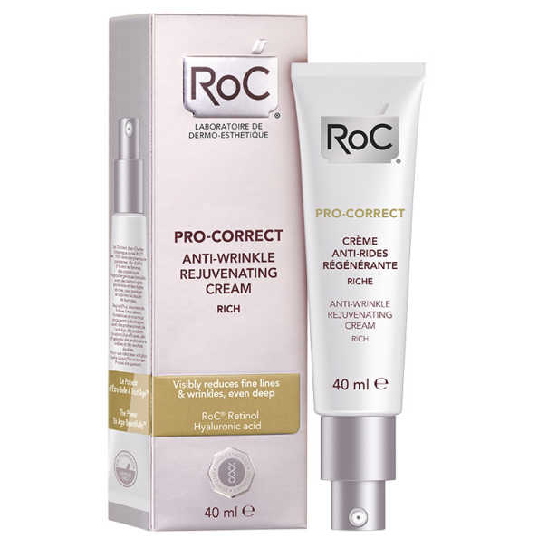 Roc Pro-Correct Anti-Wrinkle Rejuvenating Cream Rich - Creme Facial Anti-idade 40ml