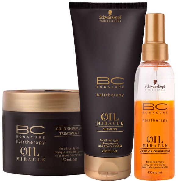 Schwarzkopf Professional BC Bonacure Oil Miracle Kit de Tratamento (3 Produtos)