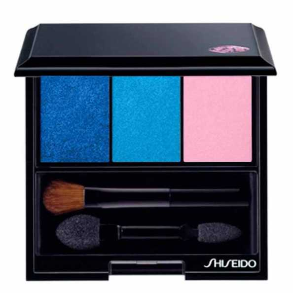Shiseido Luminizing Satin Eye Color Trio Bl310 - Blue/Light Blue/Pink