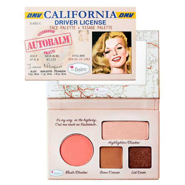 the Balm Autobalm Eyeshadow Palette California Driver License - Paleta de Sombras e Blush 4,15g