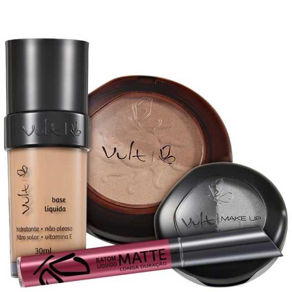Vult Make Up 02 Rosa Duo Soleil Matte Kit (4 produtos)