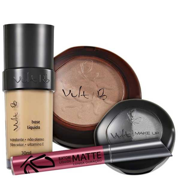 Vult Make Up 03 Bege Duo Soleil Matte Kit (4 produtos)