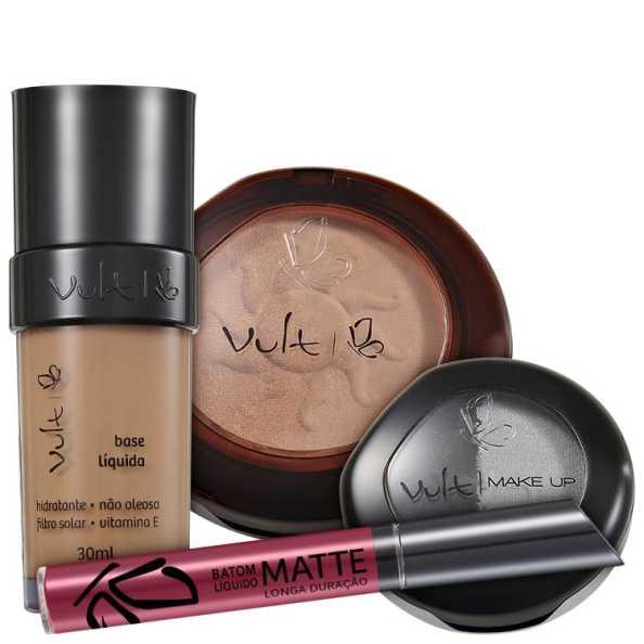 Vult Make Up 06 Marrom Duo Soleil Matte Kit (4 produtos)