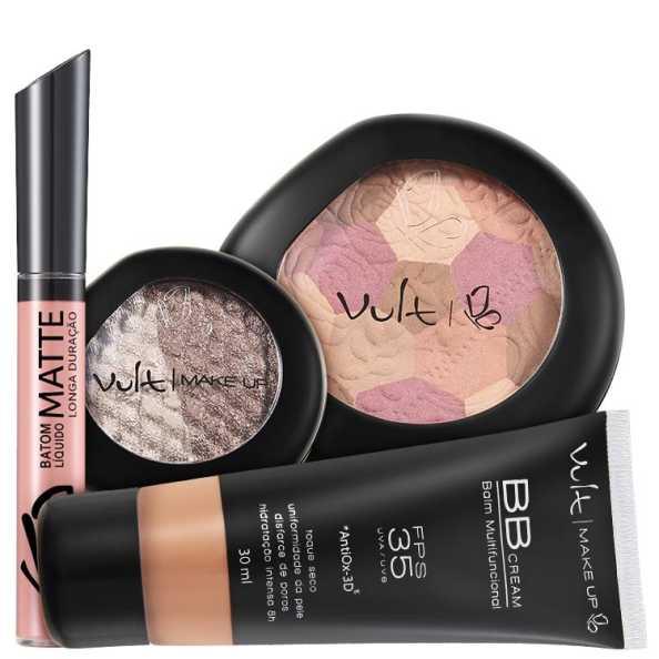 Vult Make Up Multifuncional Marrom FPS35 Baked Kit (4 Produtos)