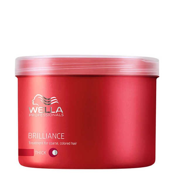 Wella Professionals Brilliance Mask Cabelo Grosso - Máscara de Tratamento 500ml