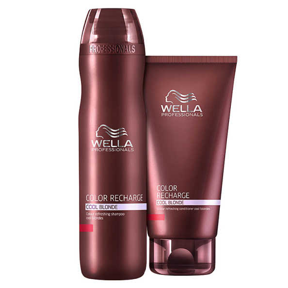 Wella Professionals Color Recharge Cool Blonde Duo Kit (2 Produtos)
