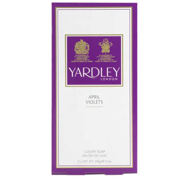 Yardley April Violets Luxury Soap - Kit de Sabonetes 3x100g