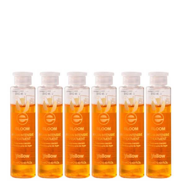 Yellow Bloom Argan Intensive Treatment - Ampola de Tratamento 6x13ml