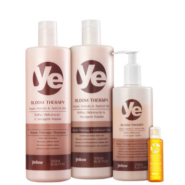 Yellow Bloom Therapy Oil - Kit Completo (4 Produtos)