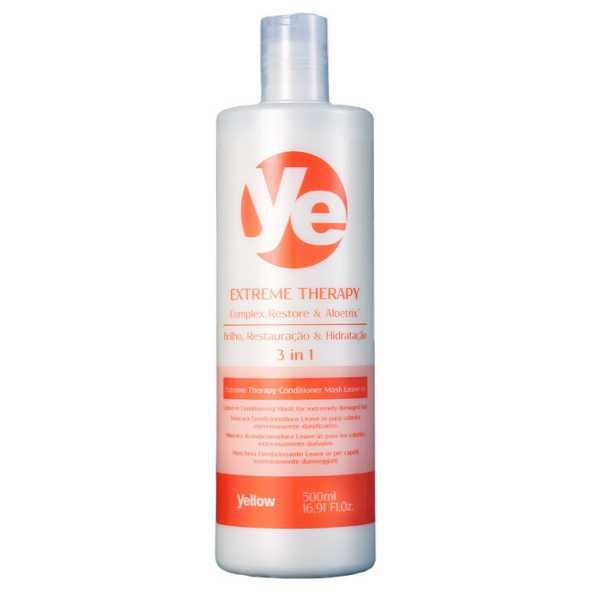 Yellow Ye Extreme Therapy Conditioner Mask Leave-in - Tratamento 3 em 1 500ml
